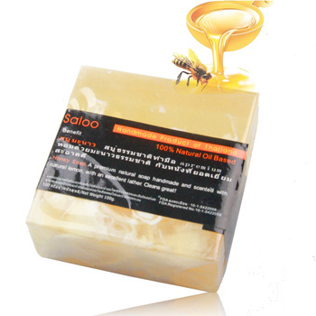 Bee essential oil soap whitening moisturizing oil control acne cleansing handmade soap Peeling Natural Bath Body Skin Care Deep skin care weleda 9652 for a child baby cream oil soap cleansing gel newborn