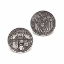 custom antique silver 3D coins cheap made military new style round  Commemorative