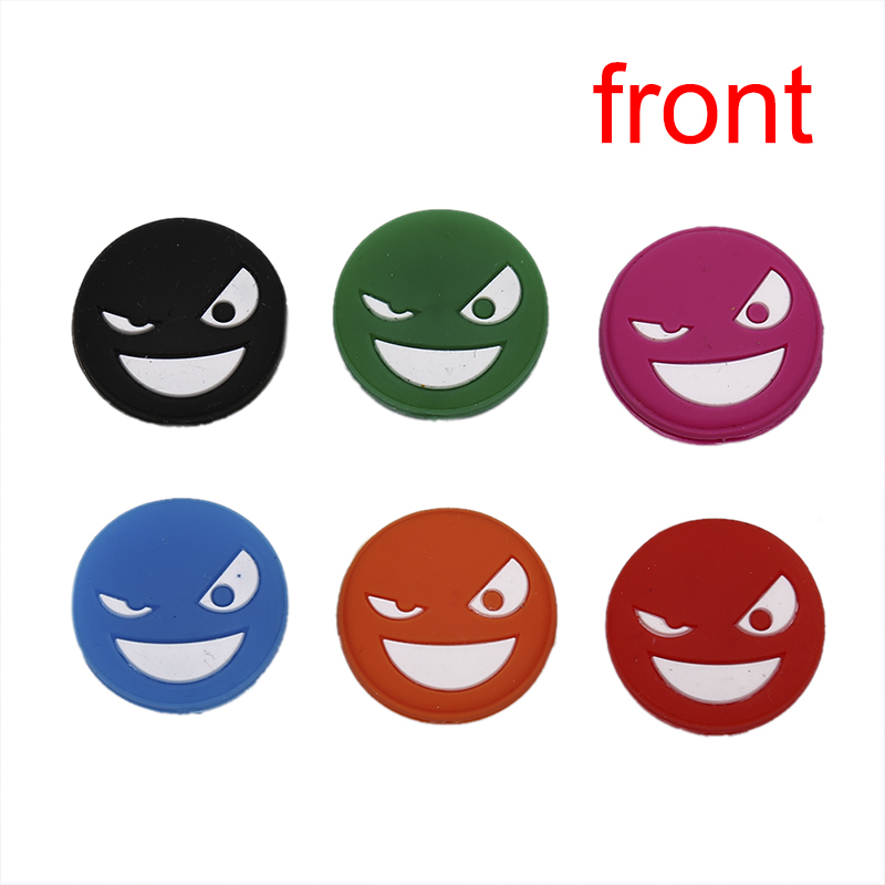 1pc Double-faced Cute Tennis Racket Shock Absorber To Reduce Tenis Racquet Vibration Dampeners Smile Face Tenis Raqueta