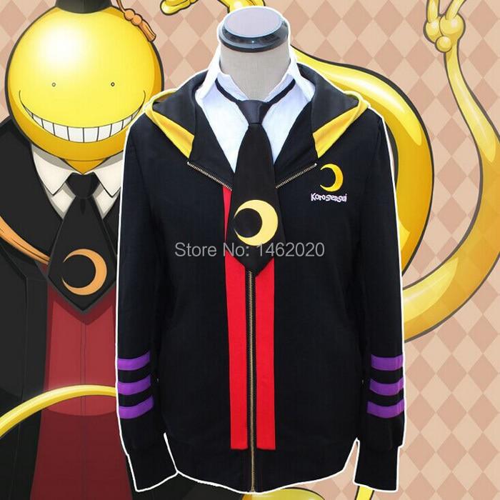 Anime Assassination Classroom Korosensei Cosplay Costumes Pullover Unisex Women Men Hooded Sweatshirts Hoodies Coats