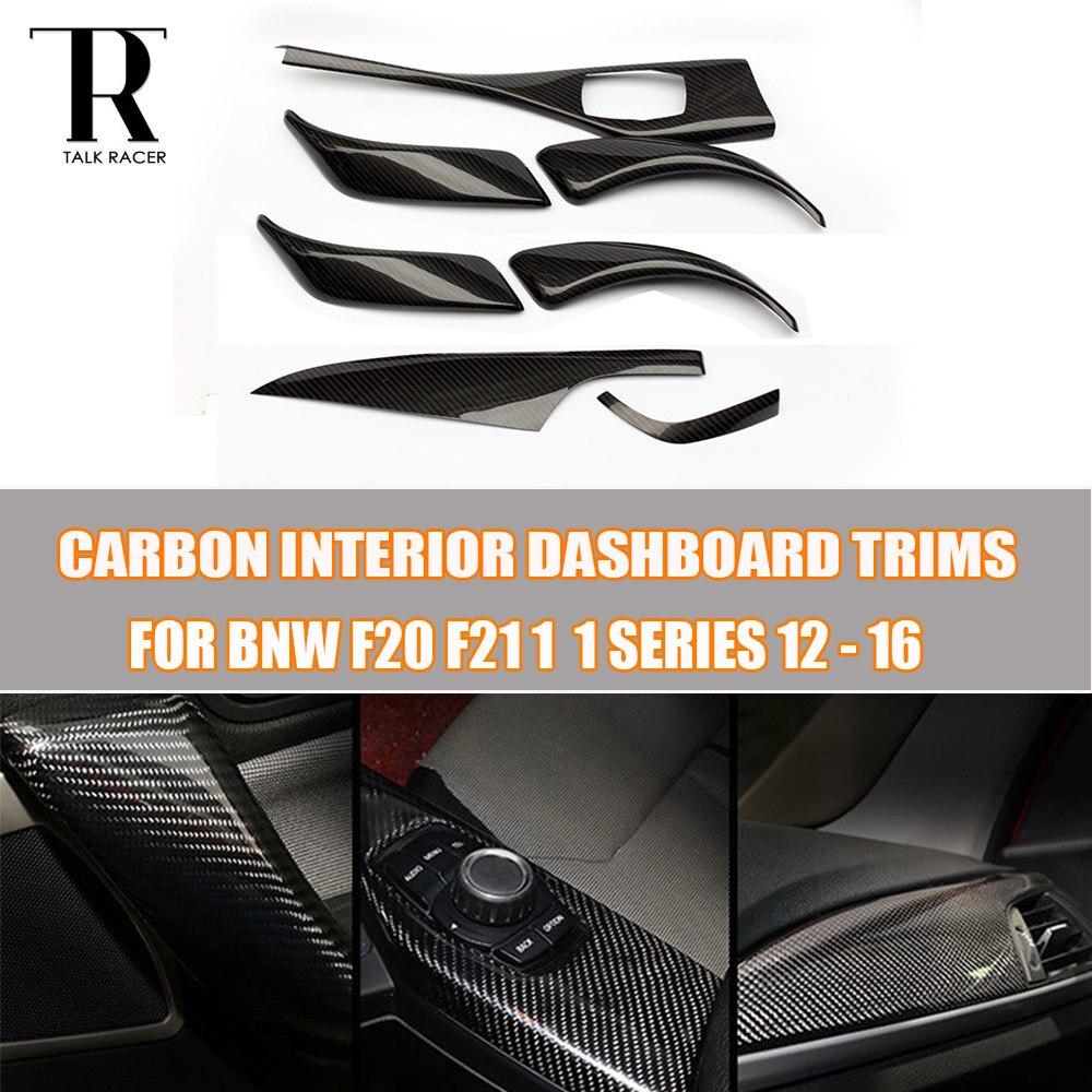 F20 F21 Carbon Fiber Εσωτερικό ταμπλό διακοσμητικό κάλυμμα καλουπιού για BMW F20 F21 1 Series 2012 - 2016