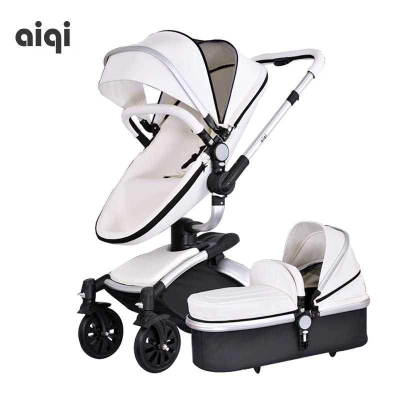 High Landscape Shock Absorber Can Sit, Lie, Light, Children's Trolley, Two-way Folding Baby Umbrella, Four Wheeled Stroller high landscape suspension stroller four wheel two way light folding sit lie baby cart