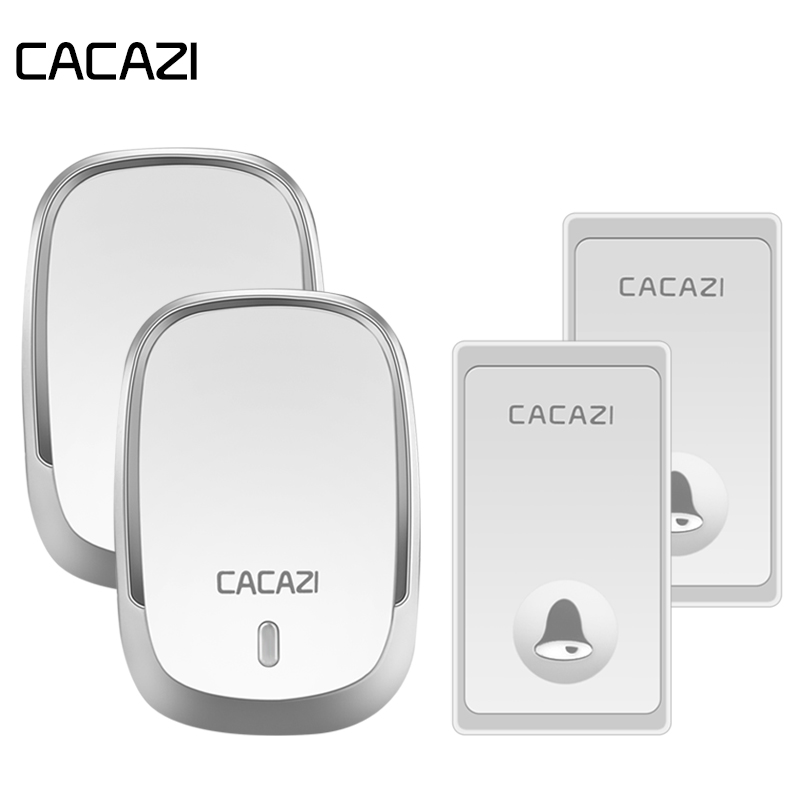 CACAZI Waterproof Home Wireless Doorbell Self-Powered No Battery Button 200M Remote LED Light Cordless Bell EU Plug 36 RingsCACAZI Waterproof Home Wireless Doorbell Self-Powered No Battery Button 200M Remote LED Light Cordless Bell EU Plug 36 Rings