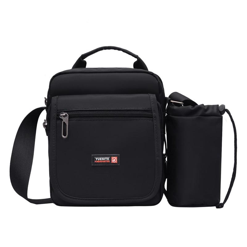 Men's Messenger Bag Brand Nylon Casual Shoulder Bags Vintage Zipper Crossbody Bags Gor Business Man Flap Satchel Pack Handbags