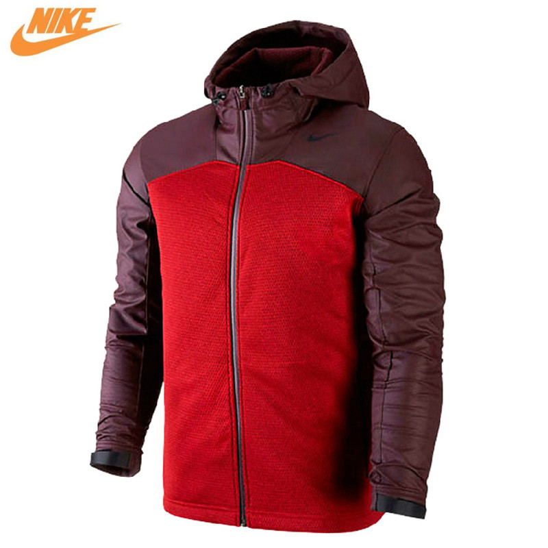 Nike Spring Men's Out Door Windproof Training Knit Hooded Jacket Red 624864-687 authentic nike men s coat spring new windproof jacket windrunner training