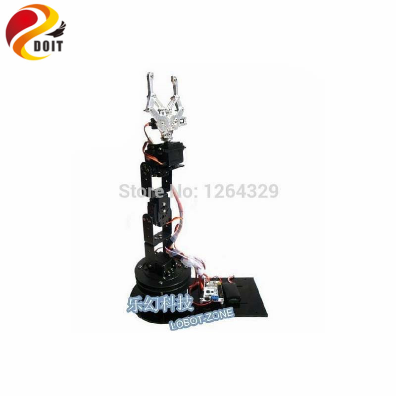 Official DOIT 6 Dof Robot Arm+6PCS High Torque Servos(Metal gear)+Mechanical Claw + Large Metal Base+Full Metal Plate