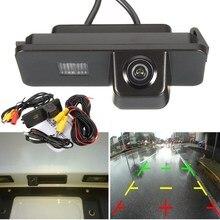 12 В Черный Авто Заднего Вида Камера Заднего вида Парковки Монитор для VW Polo/2C/Bora/Golf MK4/MK5/MK6/Жук/Leon