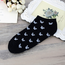 2016 New Women Socks Slippers Korea Style Cartoon Print Socks Girls Candy Color Short Sock Soft Women's Clothing Free Shipping