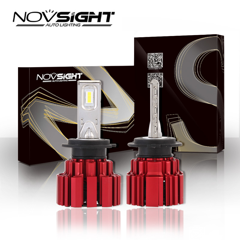 New NOVSIGHT H7 Auto Car Headlights LED Light Bulbs DRL Super White Play and Plug Fog Lamps 40~43W 6800LM/Bulb Free Shipping car styling auto h4 led bulb h7 lighting car led 12v lights h4 h7 h11 led lamps light bulbs headlights for cars led headlights