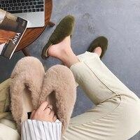 New Women Fur Slippers Fluffy Slippers Real Fur Sandals Flat Soft Indoor/outdoor Flip Flop Women Cute Hot Shoes slides women