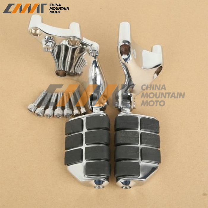 Chrome Lion Paw Foot Pegs & Mount Brackets For Harley 883 1200 XL Sporster 14-16 chrome lion paw foot pegs