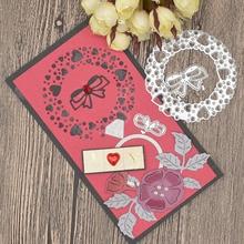 Heart Flowers Metal Cutting Dies for Scrapbooking Card Album Decoration Card making Frame Dies