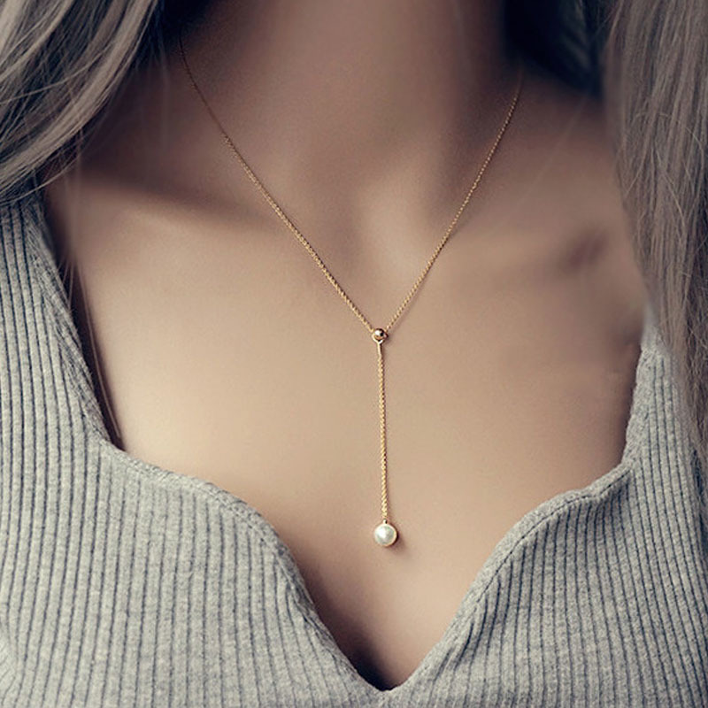 Y Gold Necklaces Fashion Jewelry
