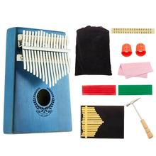 17-tone Kalimba Finger Piano Portable Pocket Size Thumb Piano Set with Paper Music Mpectrum Educational Musical Toys thumb piano portable beginner instrument thumb piano 10 tone kalimba 10 fingers finger piano wear resistant