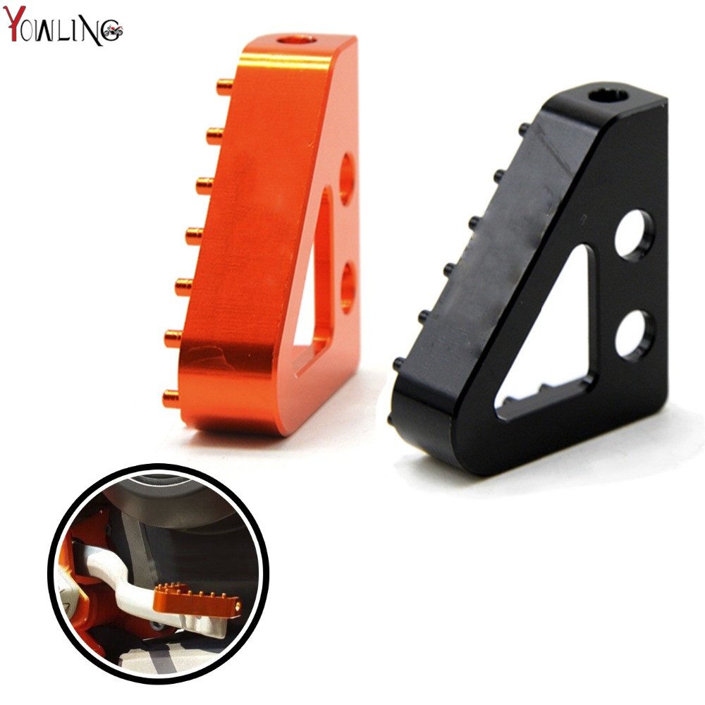 Motorcycle CNC Billet Aluminum Rear Brake Pedal Step Tips accessories FOR KTM rc 390 duke 125 200 390 690 DUKE SMC 2008-2017 hot sale motorcycle leather passenger pillion rear seat for ktm 390 duke black red orange