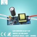 8-12 W led driver transformer power supply adaptador Entrada AC90-265V Output DC24-42V Atual 280-300mA para lâmpada led DIY