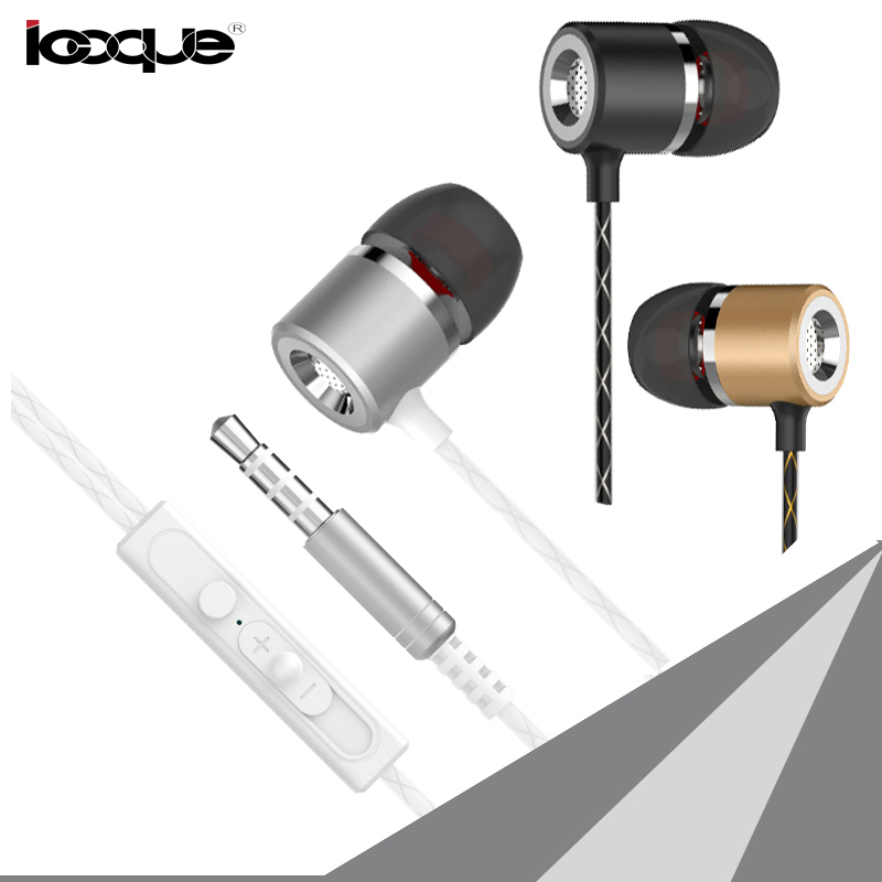 Stereo Earphones In Ear Phones Buds Headset 3 5mm Aux Metal Wired Earphone With Microphone Mic