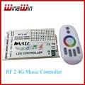 RF 2.4G Controle Remoto LED Controlador Música RGB levou Controlador DC12-24V Sem Fio para RGB LEVOU Tiras