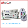 RF 2.4G Remote Control LED Music Controller RGB led Controller DC12-24V Wireless for RGB LED Strips