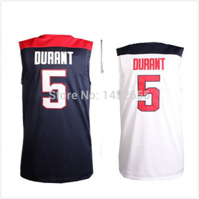 #5 Kevin Durant Jersey,Dream Team Authentic Jersey,USA 2014 World Cup Basketball Jersey,Best quality,Size S--XXXL - 2009 Jersey store