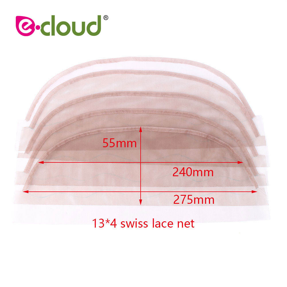 Alert 2pcs/lot 13*4inch Top Swiss Net For Lace Wig Base Cap Lace Frontal Closure Material Brown Color 360 Frontal Net Bright And Translucent In Appearance Tools & Accessories