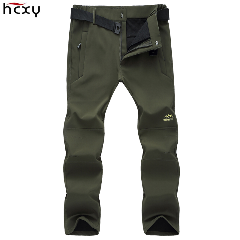 HCXY Winter Men Warm Pants Trousers Male Plus Size