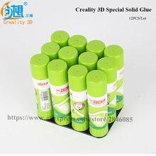 12 шт./лот creality 3D 21 г 24×98 мм специальные нетоксичные моющиеся Клей-карандаш для 3D-принтеры очаг Запчасти и Интимные аксессуары