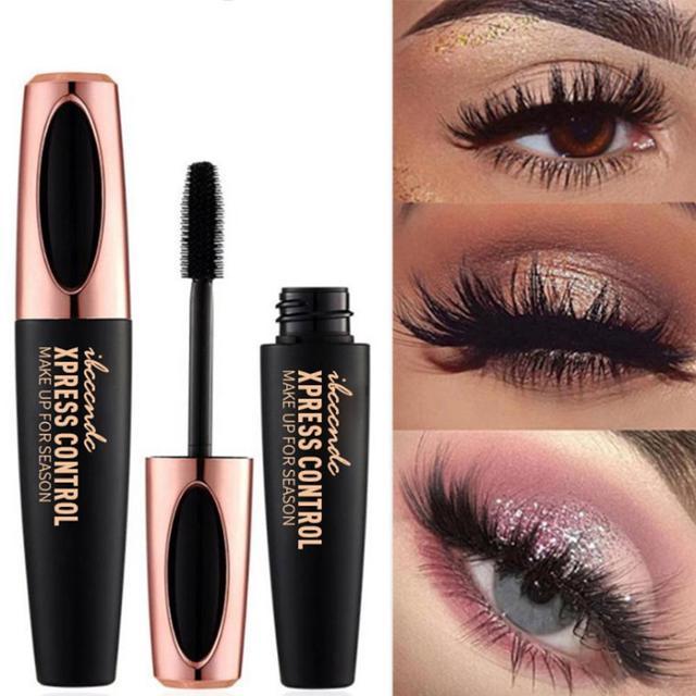 0bb89263450 2018 Original Brand Makeup Mascara 4D Silk Fiber Lash Mascara New Long  Curling Black Waterproof Fiber
