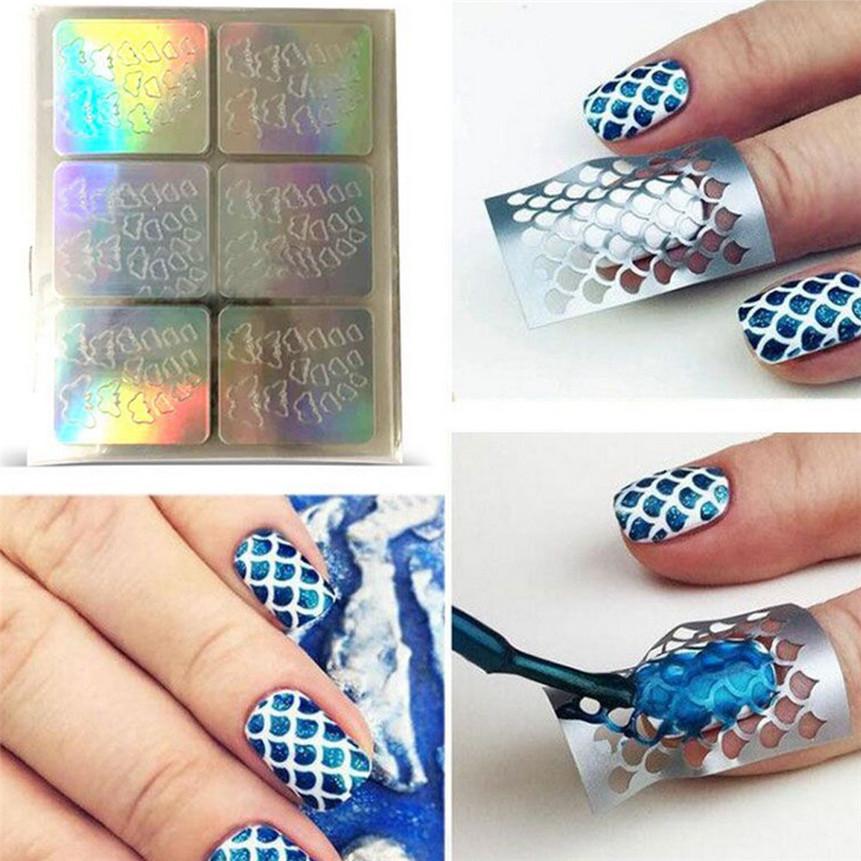 Aliexpress.com : Buy OutTop Nail Art Paper Stickers Hollow ...