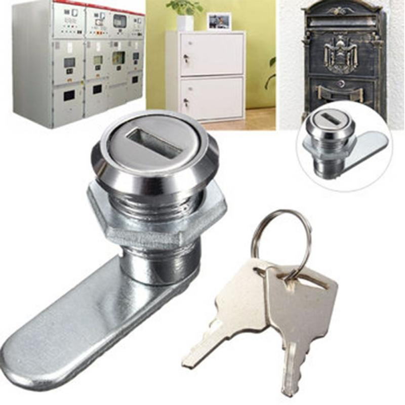 high quality cam lock desk drawer lock with 2 keys for arcade cupboard mailbox file cabinet