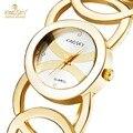 Mulheres relógios top de luxo da famosa kingsky marca de design de moda pulseira de quartzo-relógio de ouro relógio de pulso relojes mujer 2016 presente