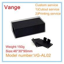1 шт./лот алюминиевые, черного цвета diy коробка 6063-T5 алюминиевая распределительная коробки: 46*30*90 мм для усилительное устройство