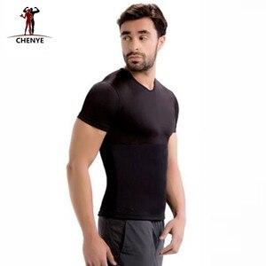 Image 3 - الرجال القمم تيز 2018 أزياء أسود T قميص الرجال النيوبرين قصيرة كم قميص زائد حجم 5XL جديد صائغي ضغط التخسيس قمصان
