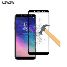 2pcs Glass For Samsung A6 / A6 Plus 2018 Full Cover Screen Protective Tempered G