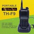 Rússia Hot Dual Band UHF/TH-F9 VHF Portátil Rádio em Dois Sentidos Handheld 5 W Walkie Talkie comunicações do árbitro de futebol CB Rádio