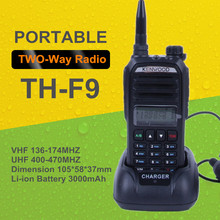 Russia Hot Dual Band UHF/VHF Portable Handheld Two Way Radio TH-F9 5W Walkie Talkie football referee communications CB Radio