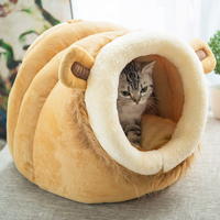 SUPER SD PETS Lovely Pet Dog Cat Bed Warm Soft Sleeping Bag Cuddly Cave Completely Removable Cover Cushion with Zipper