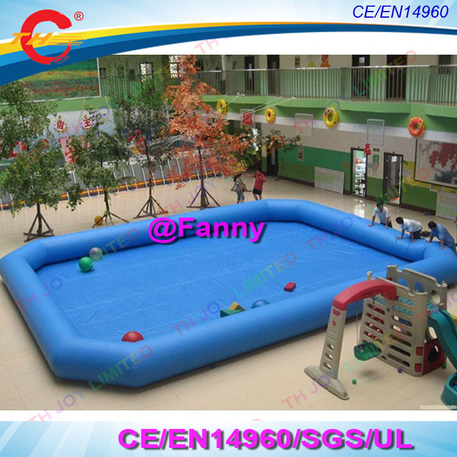 Commercial Grade High Quality Giant Blue Inflatable Pool Adult Size Inflatable  Pool For Sale,giant