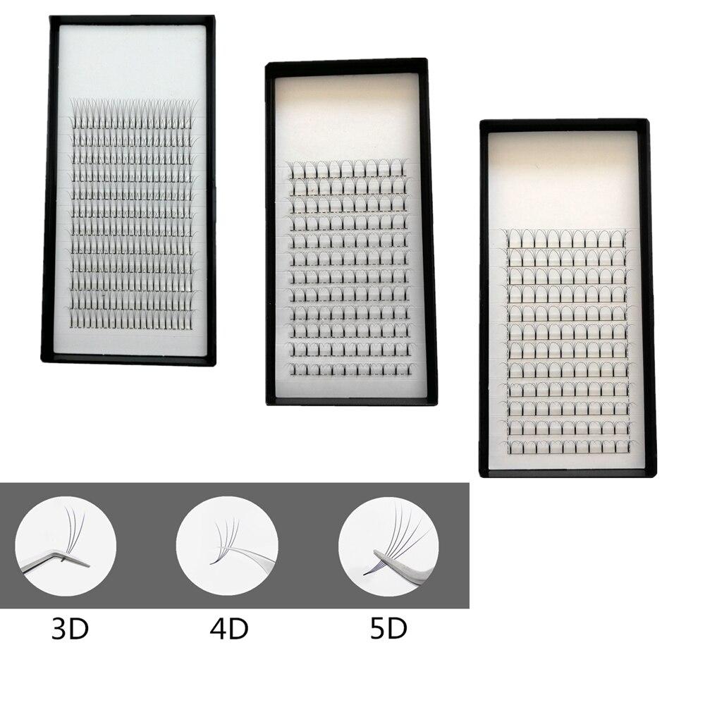 VolumeLash 3D/4D/5D longue tige chacun 5 plateaux faux cils corée cils soie douce faux Deluxe Volume ventilateurs C D Curl beauté cils