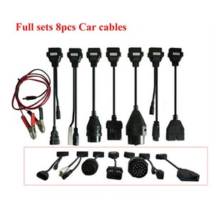 Image 3 - Adapter Cables For delphis vd DS150E  OBD2 OBDII Cars Diagnostic Interface Tool Full Set 8 Car Cables For TCS  Pro Cable
