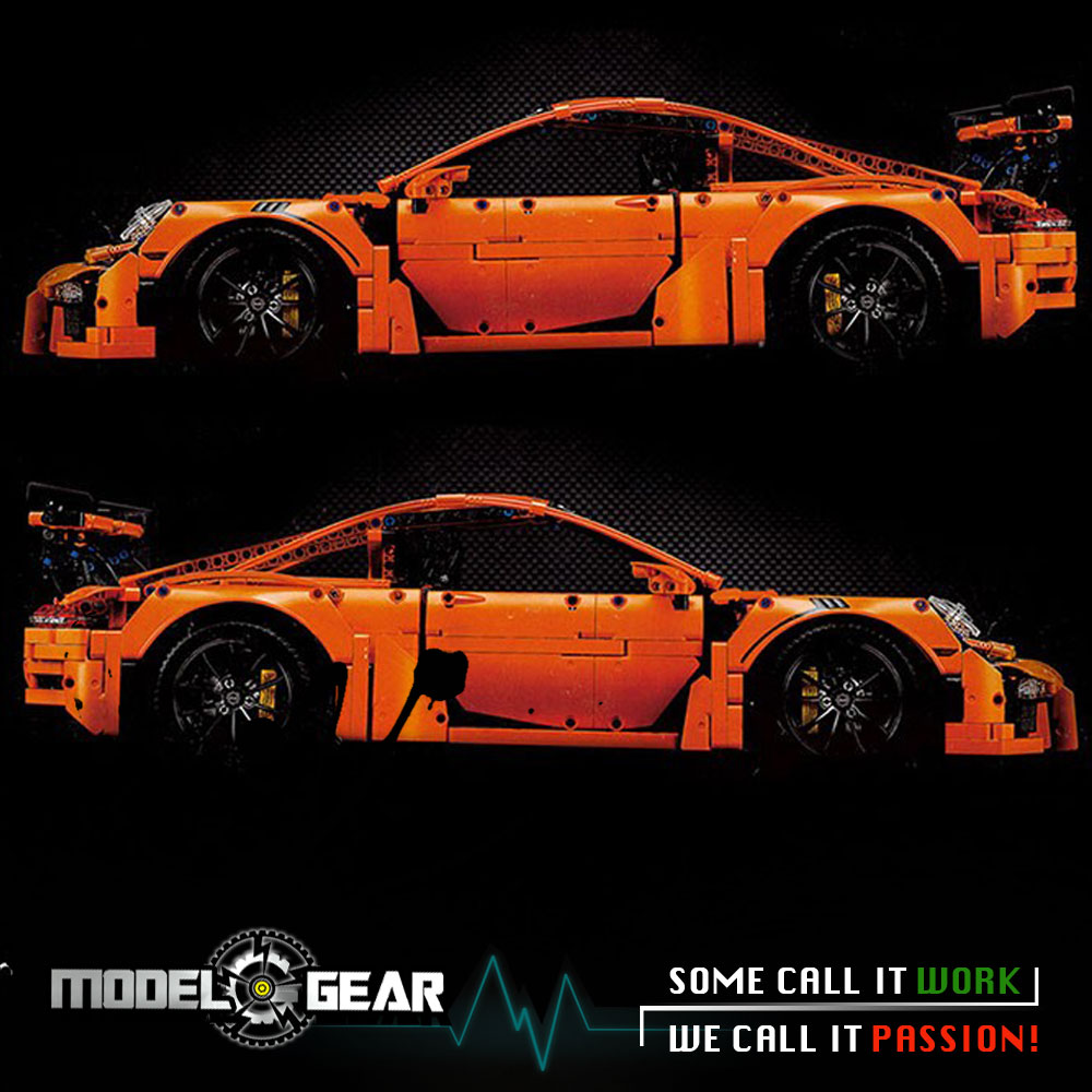 ФОТО 1/8 Scale Technic series 20001 911 GT3 RS 42056 - NOT LEGO - MODEL TOY (included Instructions without original box)