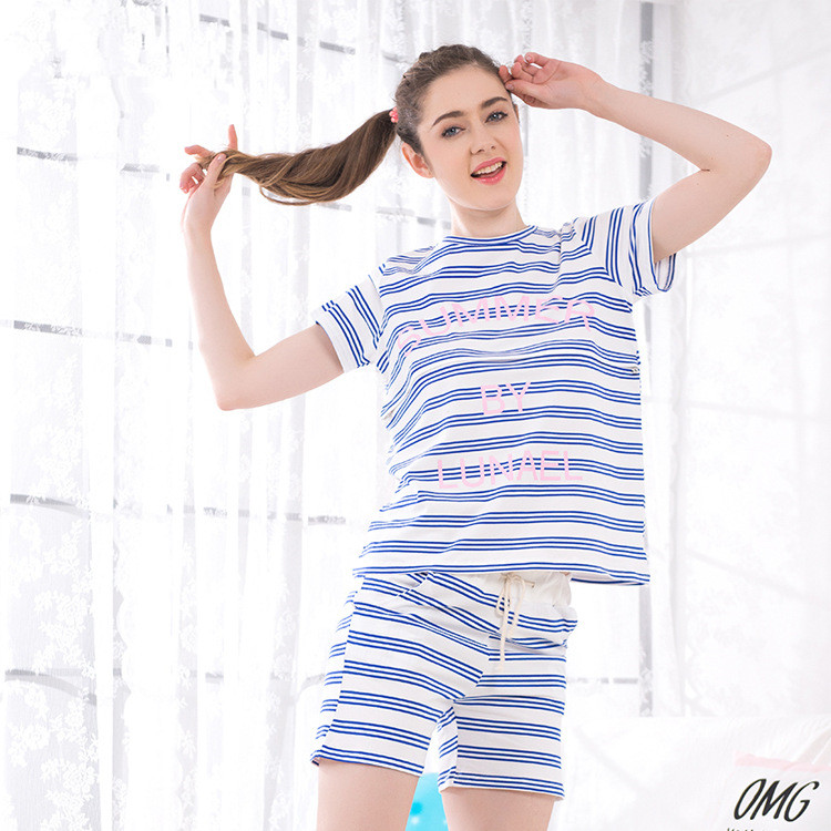 Stripe Nursing Nightgown Cotton Shirts Shorts Clothing Sets for Women Flower Print Pregnancy Sleepwear Fashion Maternity Pajama