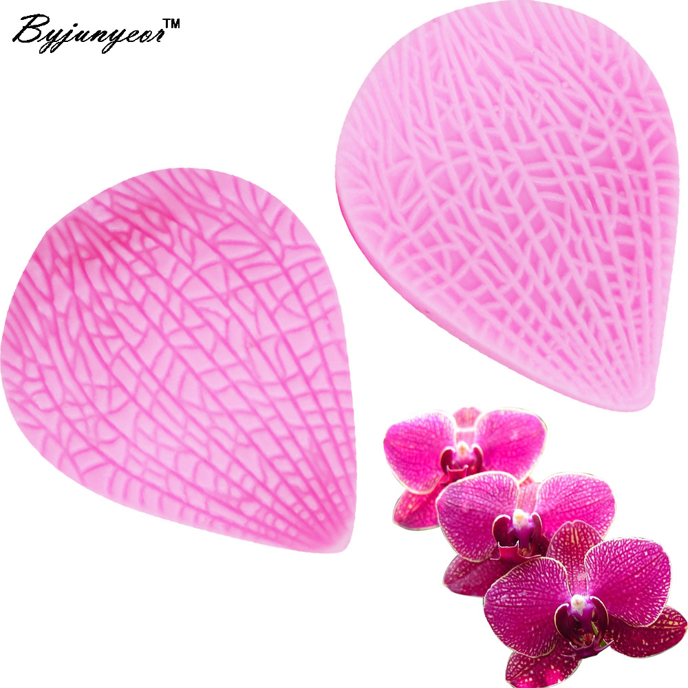 M208 Hot Selling FDA Leaves Petals leaf Silicone sugarcraft mold mould gum paste cake decorating fondant tool