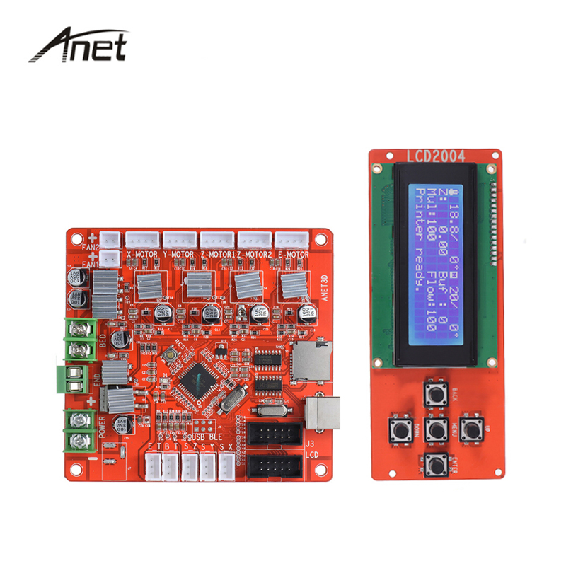 Anet LCD Smart Display Screen Controller Module with Cable Controller Board 12V 24V Motherboard  Mainboard For A8 3D Printer