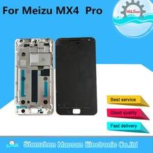 Дешевые M & Sen для 5,5 «Meizu MX4 Pro ЖК-дисплей экран + Сенсорная панель планшета с рамкой Белый или черный Бесплатная доставка