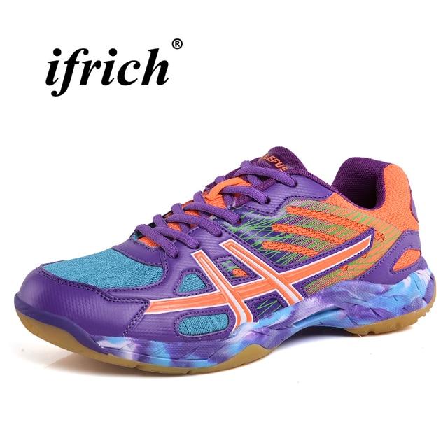 Пара бадминтон обувь зеленый фиолетовый теннисные кроссовки резиновая подошва мужская обувь для спорта Нескользящие удобные кроссовки
