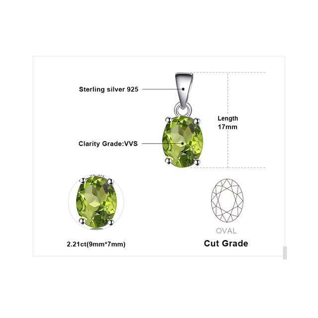 Natural Green Peridot Birthstone Pendant