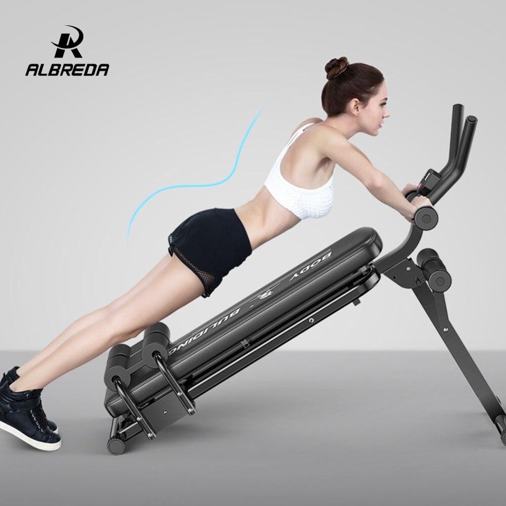 ALBREDA Machines de Fitness multifonctions pour la maison s'asseoir banc Abdominal planche de fitness équipements d'exercice abdominaux entraînement de gymnastique - 4