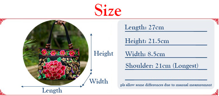 Embroidered handbags Vintage women