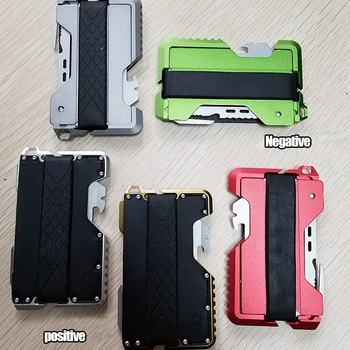1PC EDC Outdoor Pocket Tactical  Wallet Multifunction Wallet Card Metal Cash Clip Package Army Fans Equipment With Bottle Opener